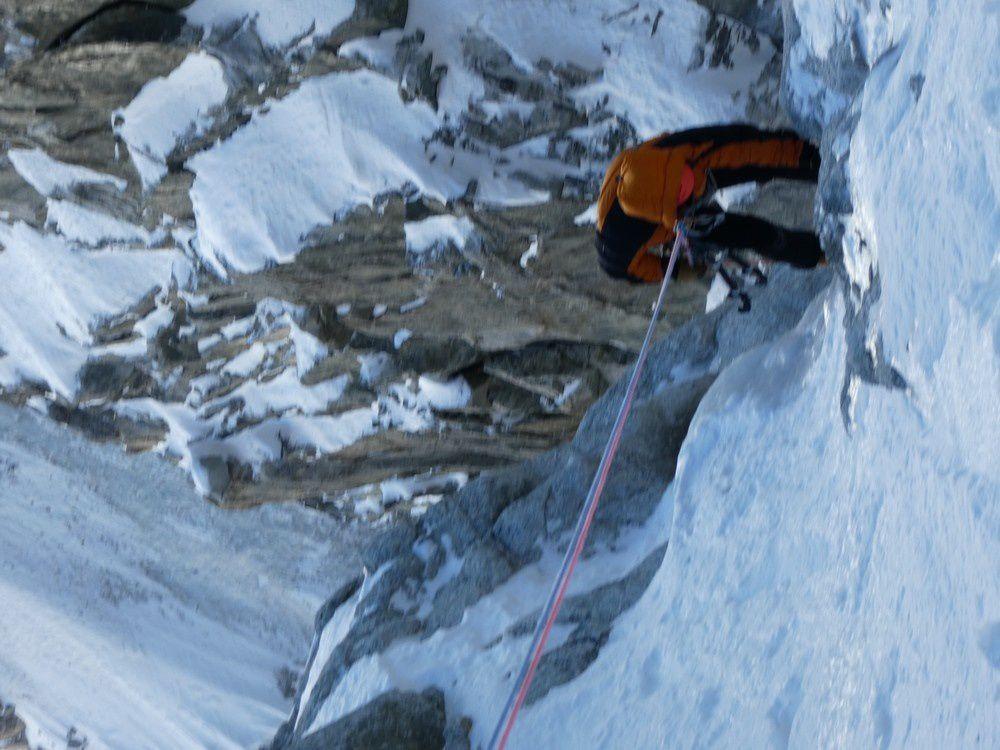 Alpinisme : Goulotte Gabarrou Albinoni - Mont Blanc du Tacul