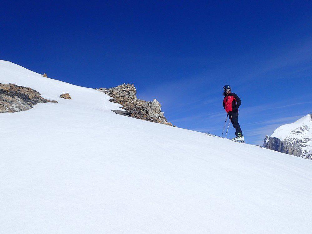 Ski de randonnée : Wängerhorn  3096 m col des Arpettes 3008 m au dessus de Zinal