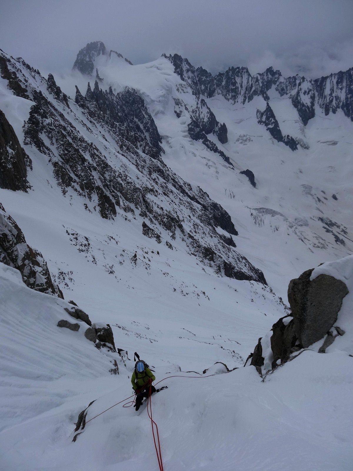 portfolio alpinisme - Chardonnet - Droites - Balcon Sud Chamonix - Aiguille Verte- Dent d'Herens - Lever de soleil