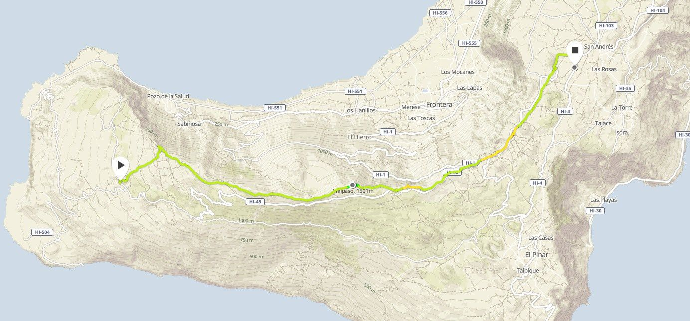 Rando Trail - Canaries Hel Hierro - Camino de la Virgen
