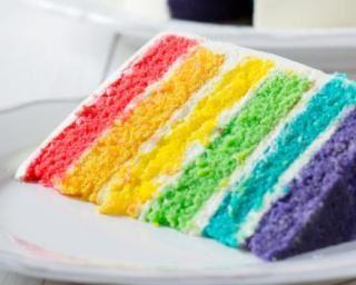"""Le """"FAMEUX'' Rainbox cake ....en version allégé"""