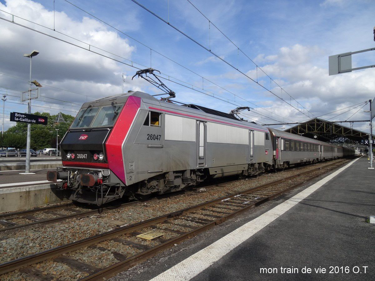 Une halte en correze 1 brive la gaillarde cc72000 for Train tours paris austerlitz