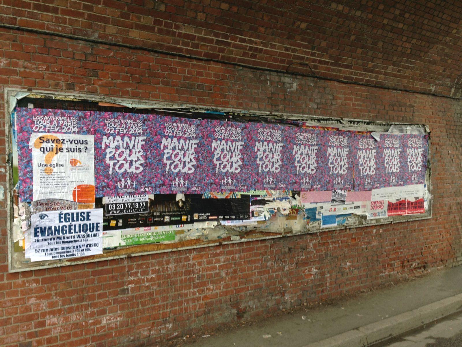 Grosse campagne d'affichage ce samedi aux quatre coins de Wasquehal