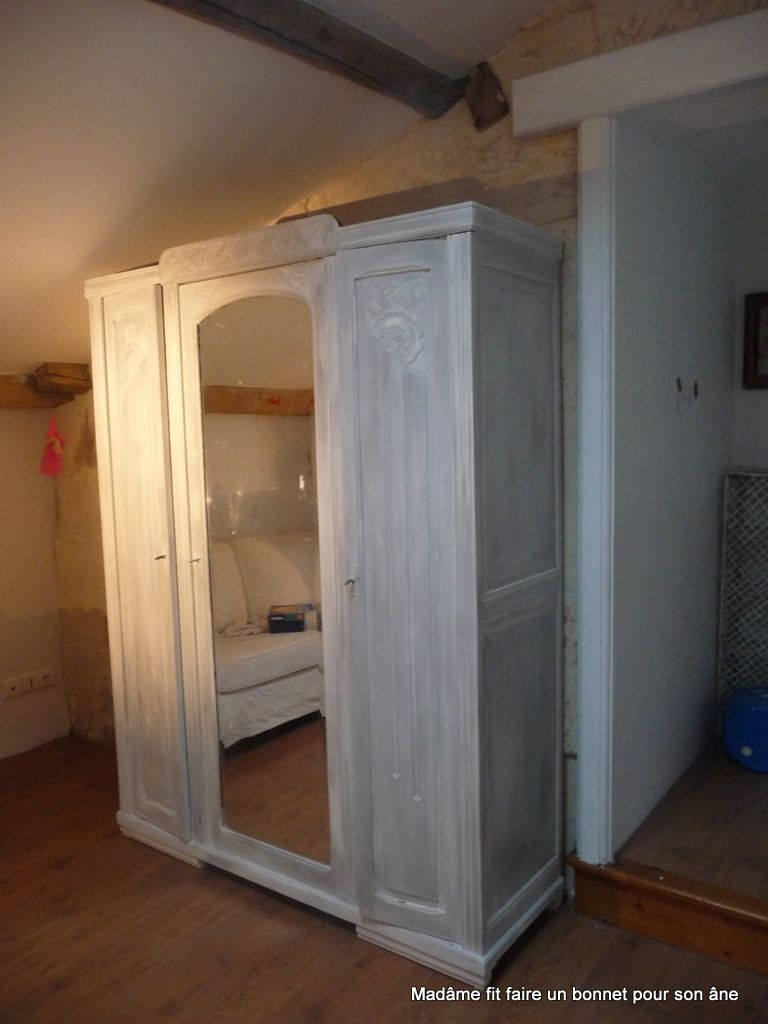 Armoire patiner mad me fit faire for Patiner une armoire