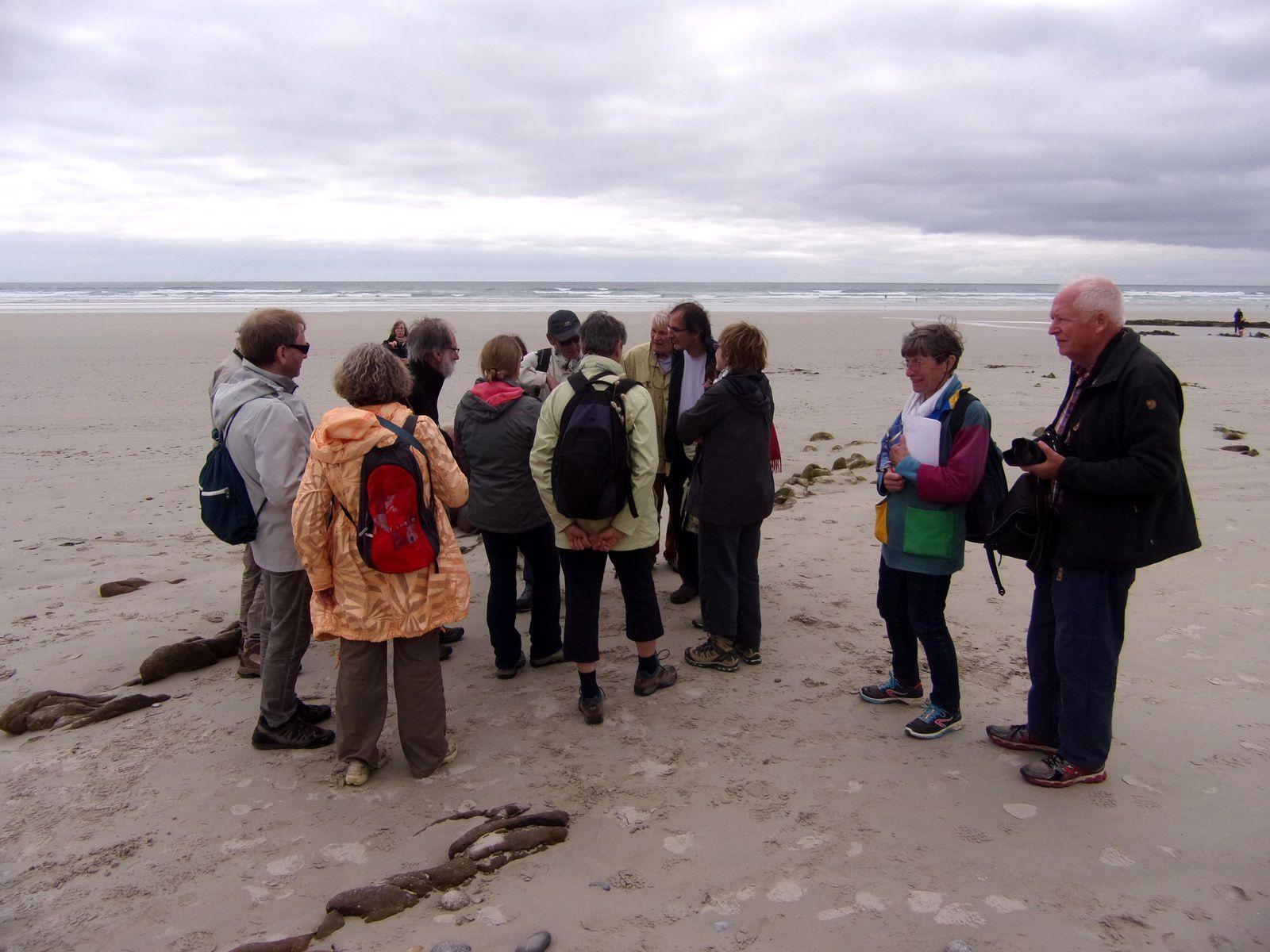 J2 -  Baie d'Audierne : Immense plage de Ru Vein et son cordon impressionnant cordon de galets