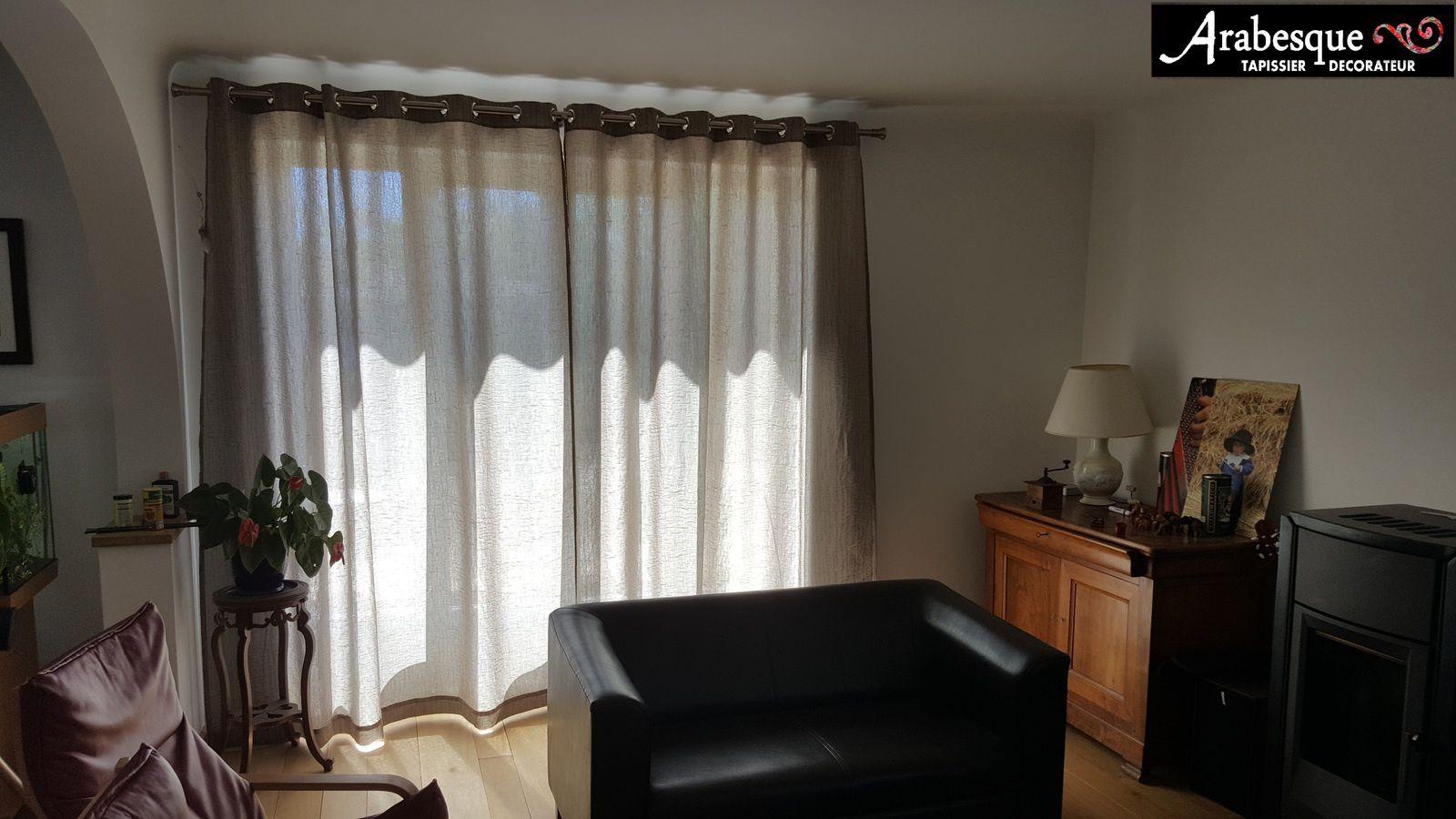 Installation tringle et confection de rideaux arabesque thiers lezoux tapissi - Installer une tringle a rideaux ...