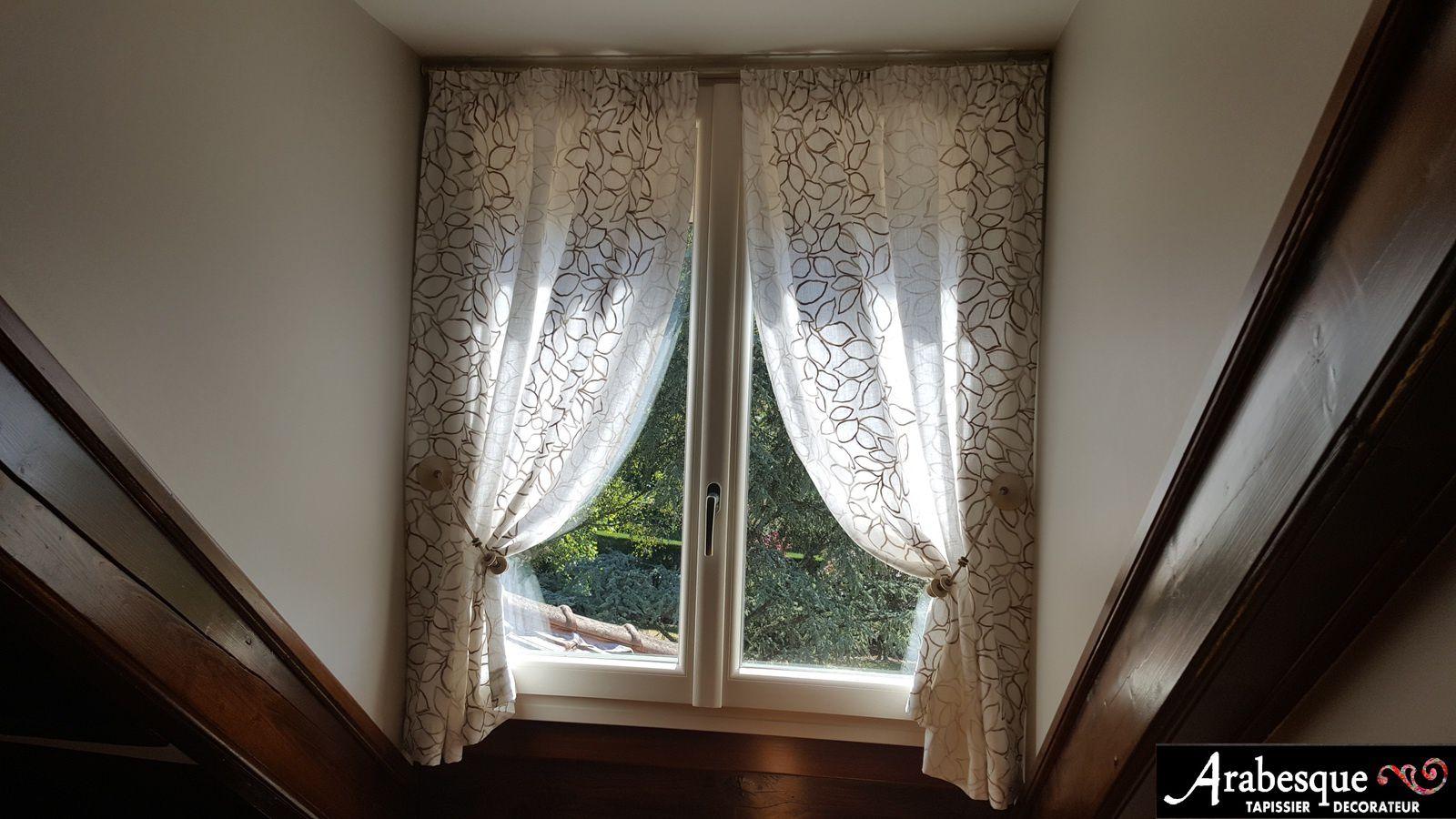 confection de rideaux sur mesure embrasse houles tissu brod 233 arabesque tapissier decorateur