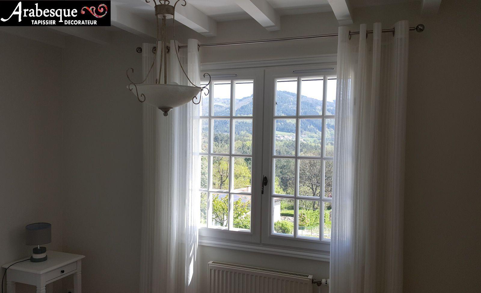 installation tringle et confection de rideaux sur mesure arabesque tapissier decorateur 63. Black Bedroom Furniture Sets. Home Design Ideas