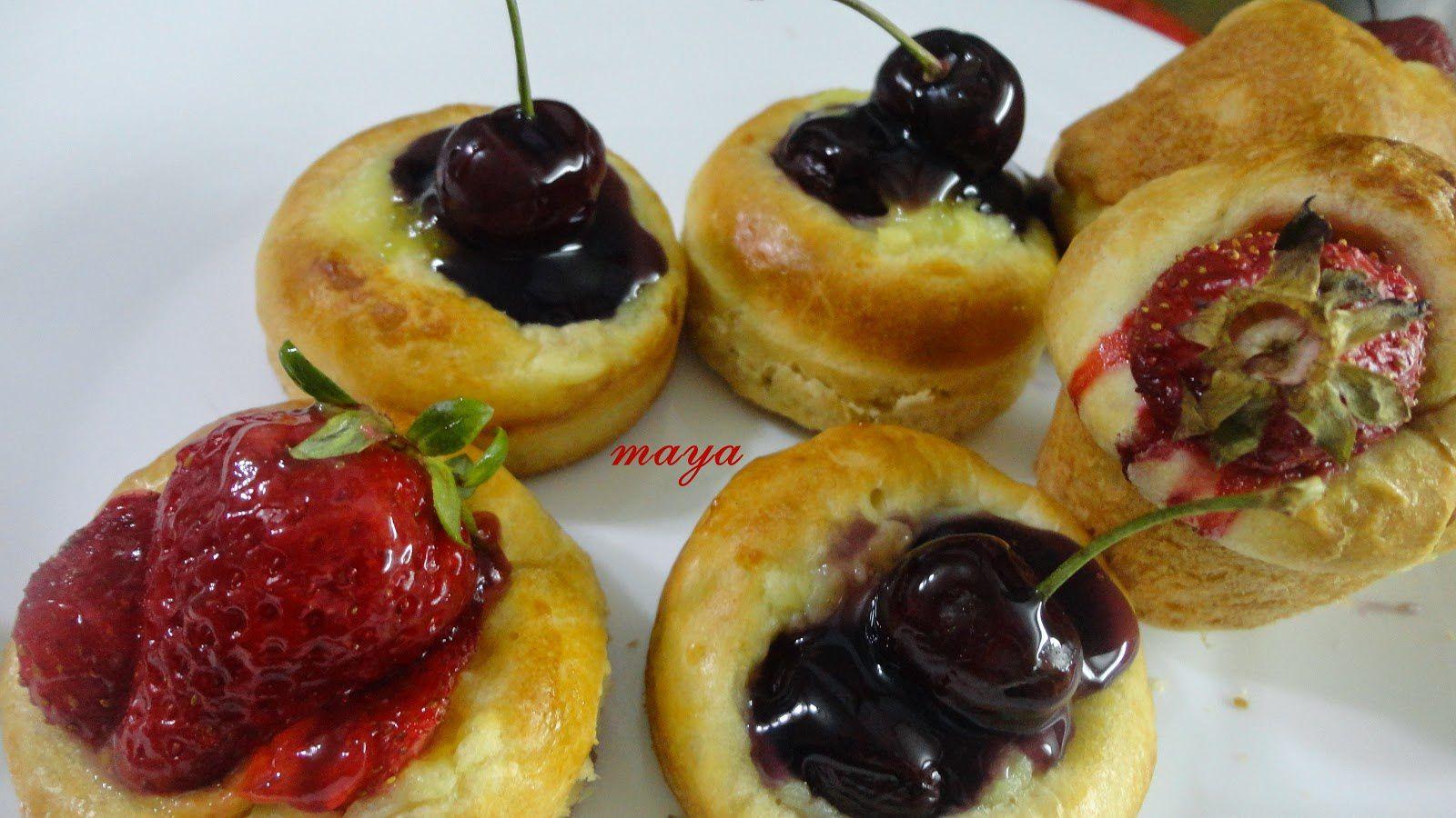 mini -brioches panachées idéales pour un petit  déjeuner gourmand !