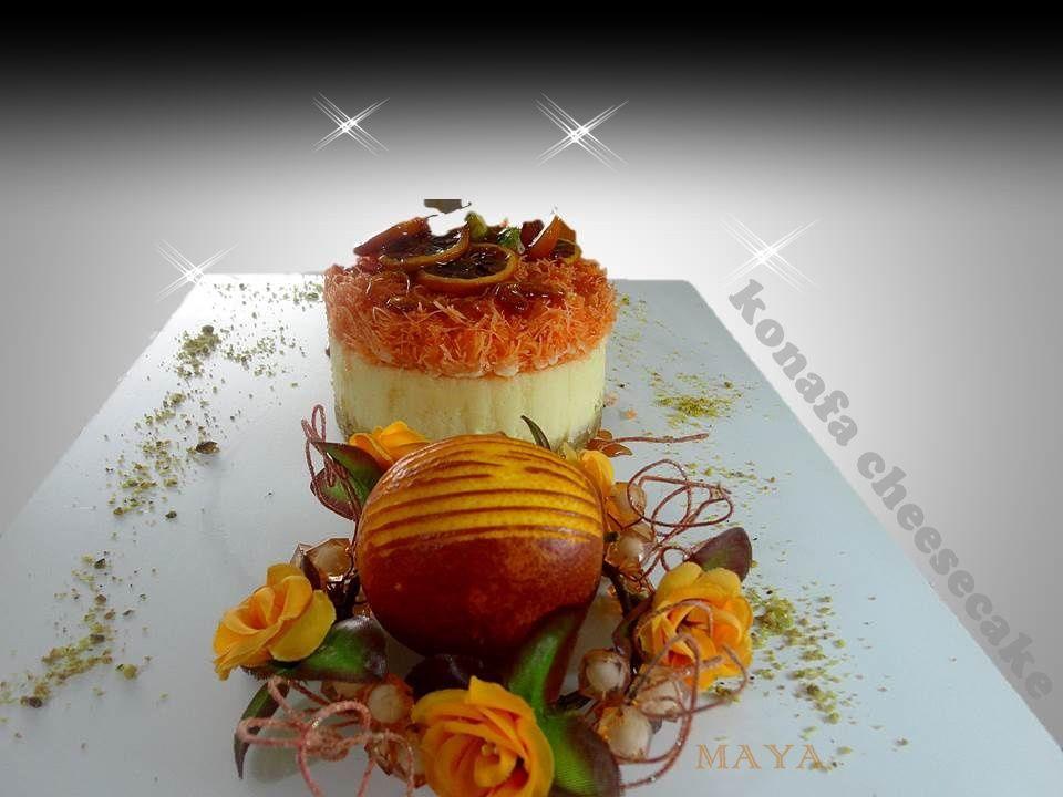 Konafa cheesecake