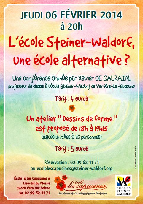 Conférence : L'école Steiner-Waldorf, une école alternative ?