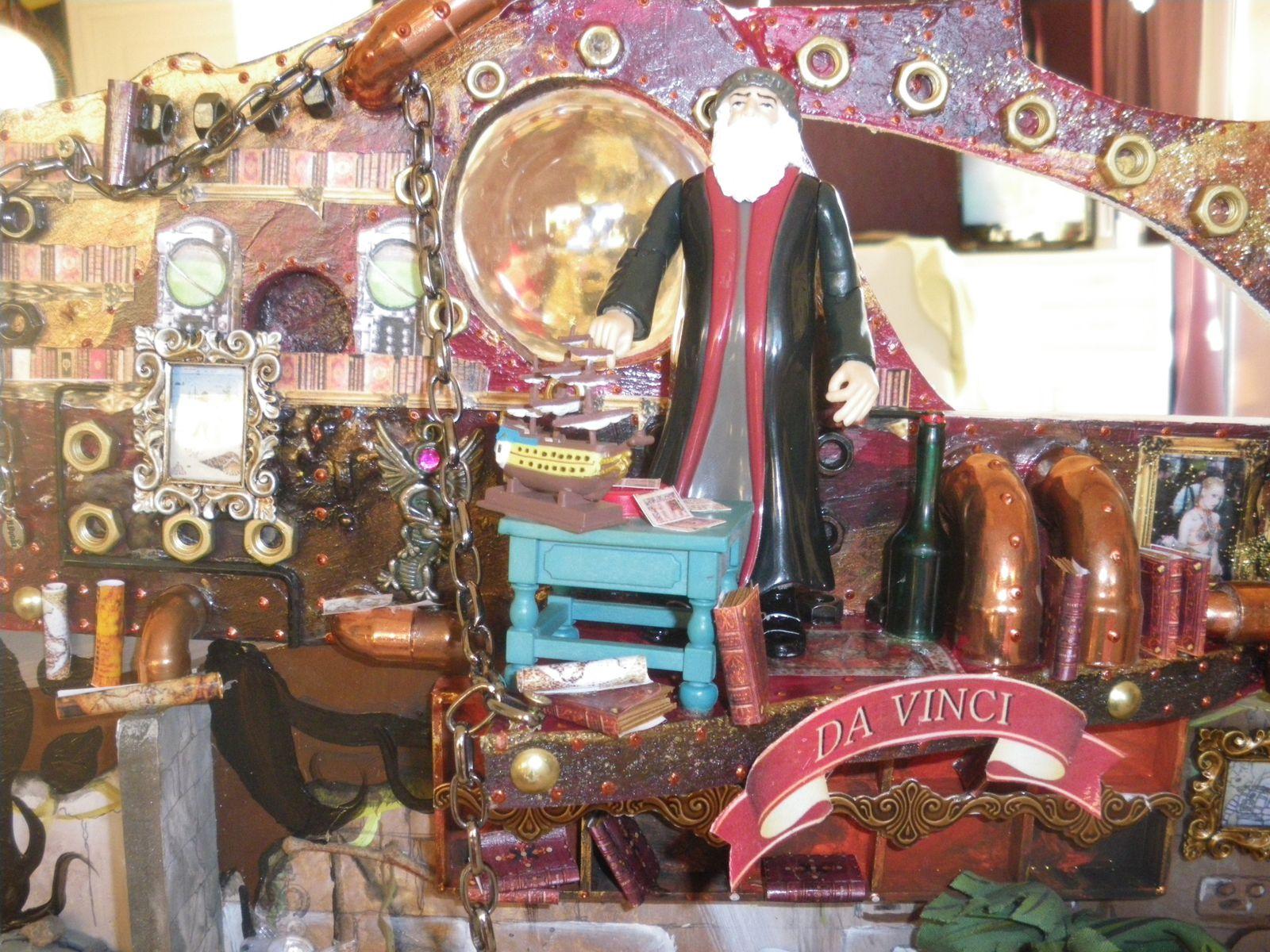 Léonard de Vinci dans la cabine