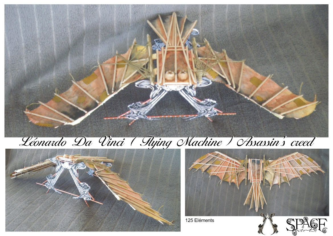 Léonard de Vinci ( Flying machine )