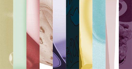 pots de glace multicolore