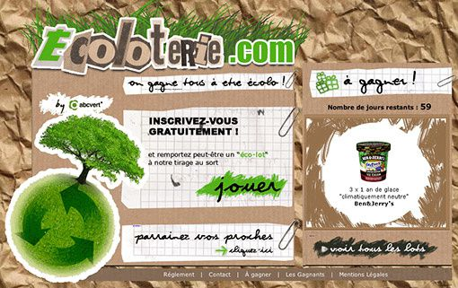 Ecoloterie : glaces à gagner