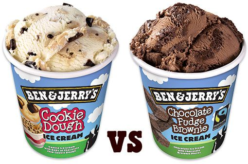 duel cookie dough vs chocolate fudge brownie
