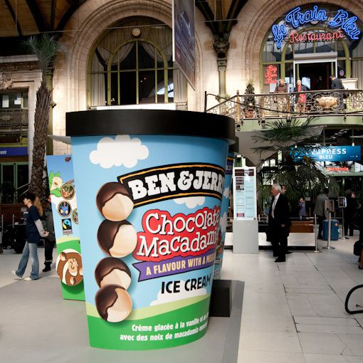 des glaces offertes la gare de lyon ben jerry 39 s. Black Bedroom Furniture Sets. Home Design Ideas