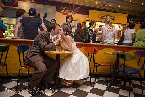 mariage dans une boutique ben & jerry's