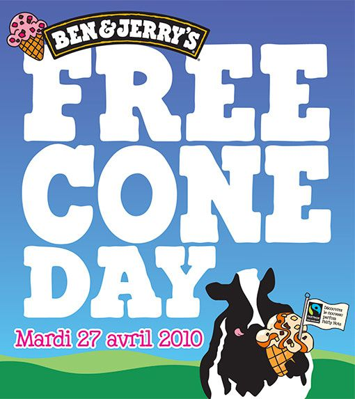 Free Cone Day - Mardi 27 avril 2010