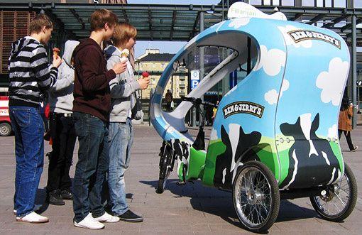 tricycle porteur cyclopousse écolo