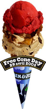 Free Cone Day : glace gratuite Ben & Jerry's