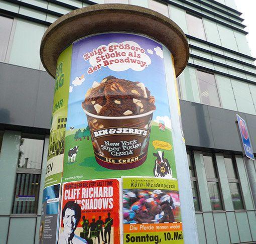 affiche Ben & Jerry's à Cologne - Allemagne