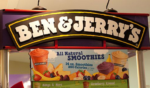 Ben Jerry's natural smoothies
