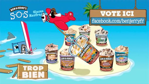 Ben & Jerry's SOS glaces naufragees