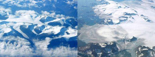 Vue aerienne Groenland