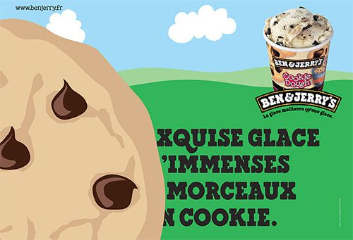 Publicité glace Cookie Dough
