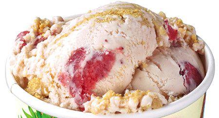 Peace of Cake : glace au cheesecake et à la fraise