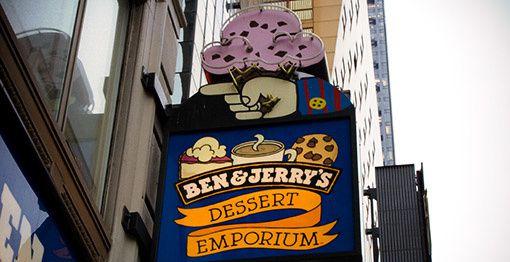 Entrée Ben & Jerry's à New York