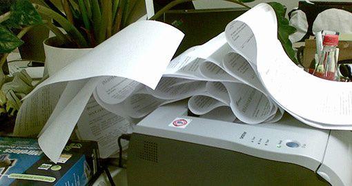 Papier coince sortie de l'imprimante