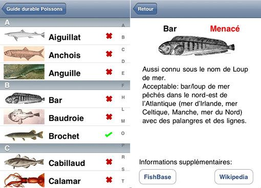 Guide Durable Poissons iPhone
