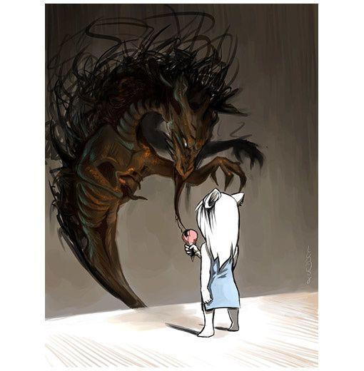 dessin dragon glace