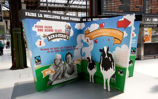 glace livre pop up à la gare de lyon