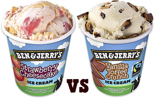 Strawberry Cheesecake et Vanilla Toffee Crunch