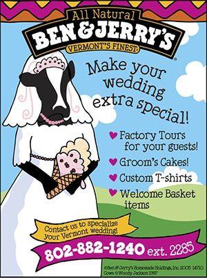 pour un mariage ben & jerry's ?