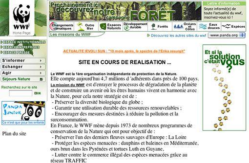 wwf.fr en 2000