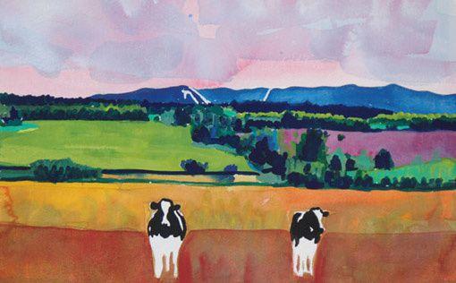 peinture vache woody jackson