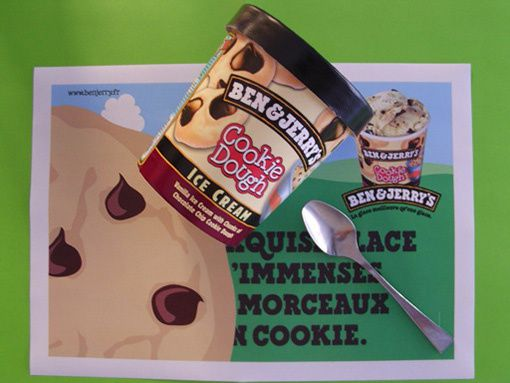 set de table glace Cookie Dough