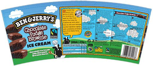 Packaging Ben & Jerry's