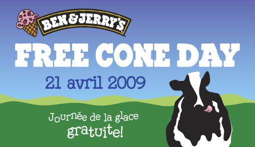 Free Cone Day - glaces gratuites