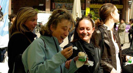 autre sourire à Lyon, avec une glace