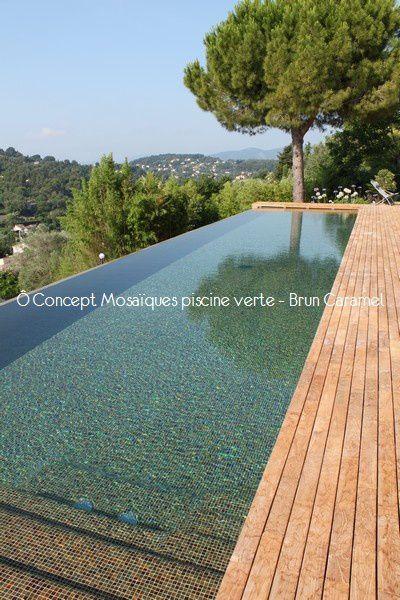 Ô Concept Mosaïques piscine verte - Brun Caramel