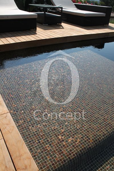 French swimming pool Ô Concept, brun caramel piscine