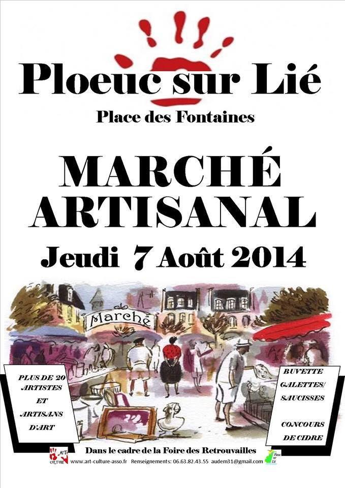 Marché artisanal, 7 août 2014