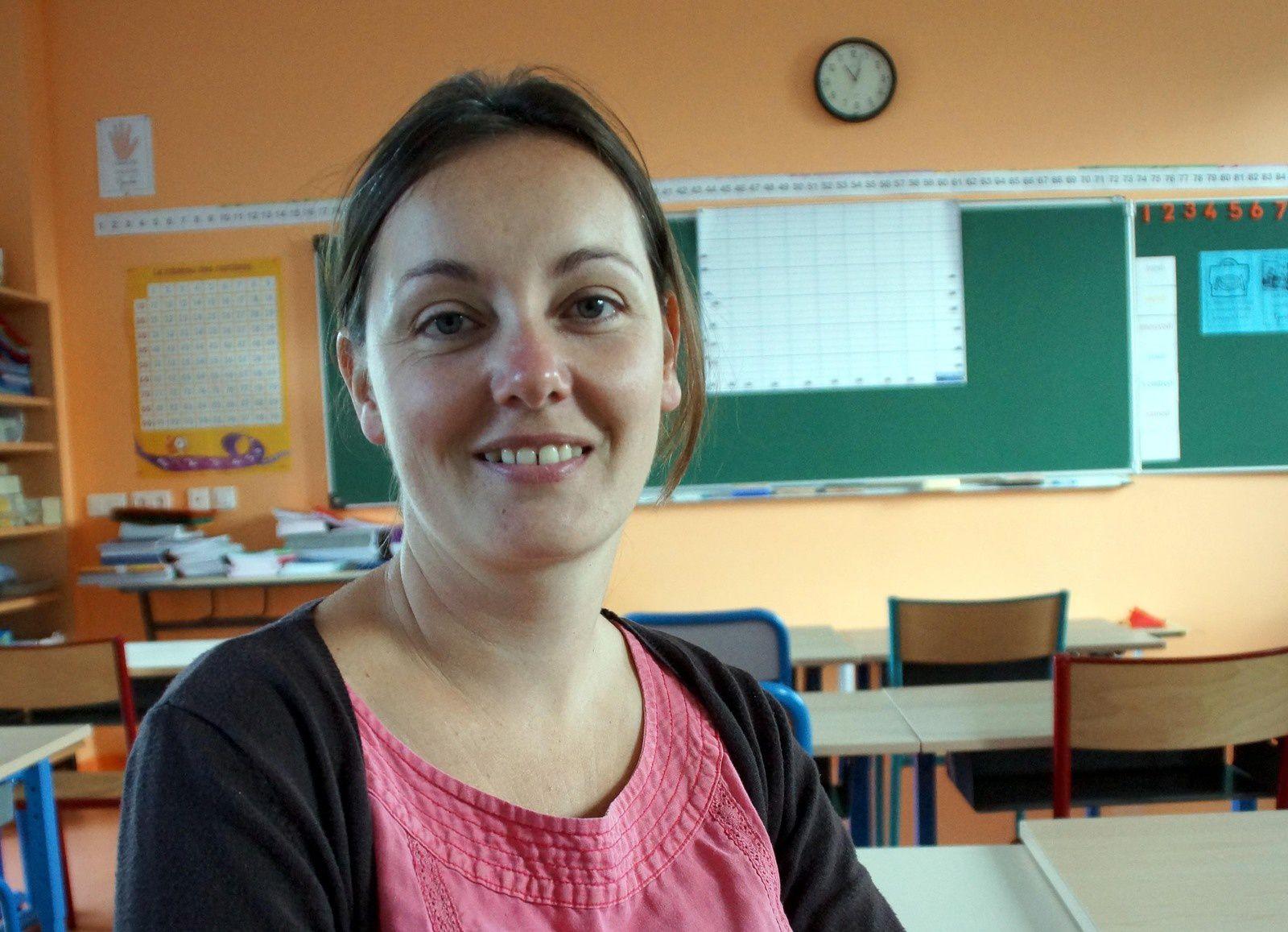 Une nouvelle maîtresse à l'école