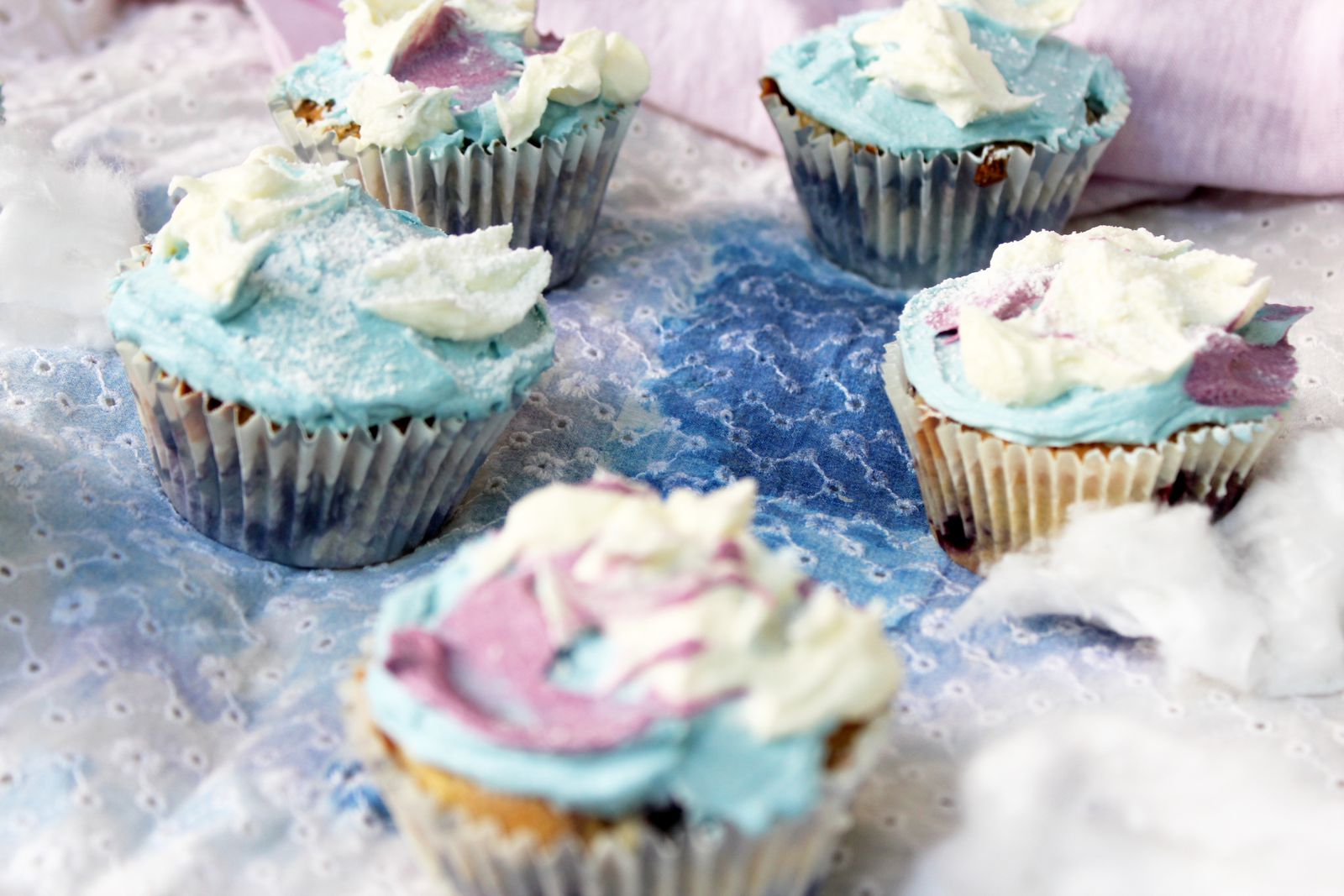 Clouds cupcakes