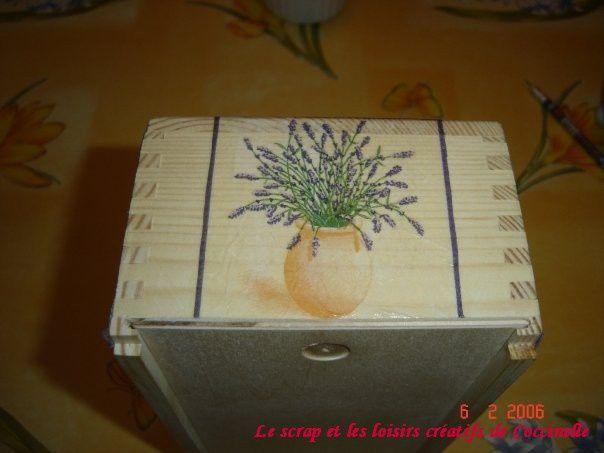 Boîte à Mouchoirs Rectangulaire Lavande